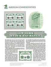 #385 29c New York Stock Exchange #2630 USPS Commemorative Stamp Panel