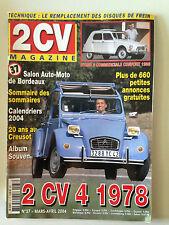 2CV MAGAZINE N°37 2004 2CV 4 1978