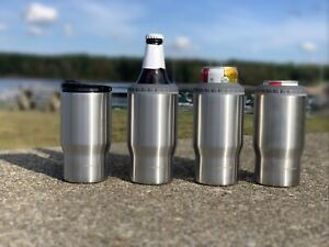 4 in 1 KM Stainless Beer Can/Bottle Cooler, Coffee Tumbler Drink Glass