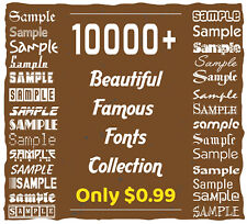 10k Beautiful Famous Top Creative Fonts Collection