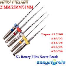 5pcspk Dental Endo Niti Rotary Files X3 Endodontic Engine Files Tips 212531mm
