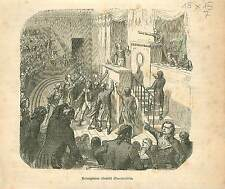 Accusation Robespierre Revolution Française FRANCE GRAVURE OLD PRINT 1873