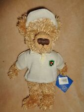 "Bear Petting Zoo 10"" Stuffed Plush Fuzzy brown Teddy Wearing Golf Shirt & Visor"
