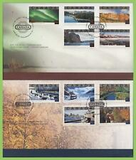Canada 2002 Tourist Attractions (2nd series) set on two First Day Covers