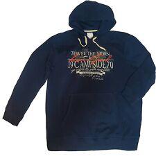Sweat Sweat-Shirt Hoddie Pull Hommes Pull avec Capuche Gr. XL Bleu Foncé