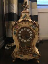 Franz Hermle French StyleItalian Made Mantle Clock Brass Vintage Estate Z24