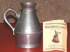 "Wilton Armetale Pewter Irish Haystack Measure Jug 6"""