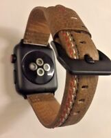 Genuine Real Leather Sports Strap Buckle for 42mm Apple Watch iWatch Series 2 3