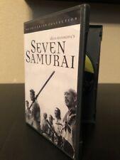 Seven Samurai Dvd 1998 Criterion Collection #2 Like New