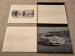 Mercedes-Benz SLR McLaren 2003 Hardback/Folder Brochure German Market Rare