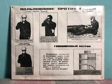 #09 SOVIET SAFETY POSTER PLATE USSR RESPIRATOR USAGE *COLD WAR PROPAGANDA