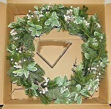 "New 22"" Pottery Barn Tallowberry and Pine Wreath"