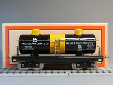 MTH LIONEL CORP TINPLATE STD GAUGE PHILADELPHIA QUARTZ 2 DOME OIL CAR 11-30206