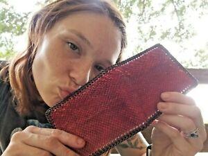 NEW Authentic SNAKE RED BOA Wallet bi-Fold Men Billfold Original Slim Pocket