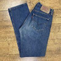 Levi Strauss 501 W31 L32 Straight Leg Light Blue Stone Wash Button Jeans