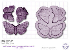 BUTTERFLIES Craft Sugarcraft Silicone Rubber Mould Mold