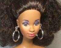 SILVER HOOPS Doll Earrings Fits Barbie, Fashion Royalty, Silkstone, Momoto HH41