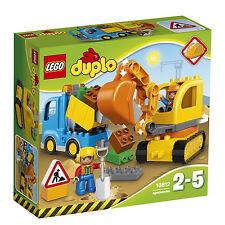 Lego ® duplo ® 10812 excavadoras & camiones nuevo embalaje original _ Truck & tracked Excavator New misb
