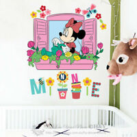Minnie Mouse Window Removable Wall Stickers Nursery Girls Decal Decor Art Mural