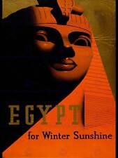 TRAVEL TOURISM EGYPT SPHINX EYES LIPS PHARAOH WINTER SUN PRINT POSTER BB9868
