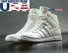 """1/6 Scale Sneakers Shoes White For 12"""" Phicen Hot Toys Female Figure U.S.A."""