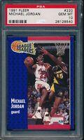 PSA 10 MICHAEL JORDAN 1991-92 Fleer #220 League Leaders Bulls RARE GOAT GEM MINT