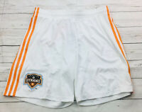 Adidas Mens MLS Houston Dynamo Replica Soccer Shorts Size Large NEW FLAW