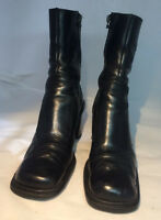 MNG Womens Black Leather Ankle Boots Size EUR 38  US 7