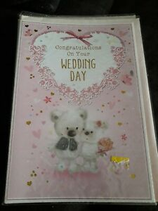 WEDDING DAY CARD CONGRATULATIONS WITH LOVE