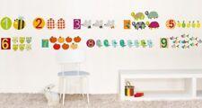 Wandtattoo Wandsticker Homesticker Tiere und Zahlen Zählen Lernen Kinderzimmer