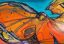 HAND PAINTED SKATEBOARD DECK ART- STRETCH- ORIGINAL- GIANT PACIFIC OCTOPUS