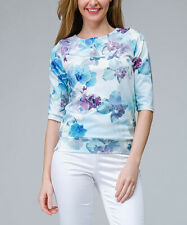 Aerin Blue Orchid Silk Blend Top Blue Size M UK 12 DH093 EE 10