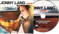 JONNY LANG Signs 2017 UK 11-trk promo CD
