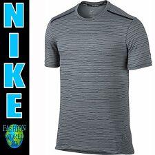 Men's Nike Cool Tailwind Stripe Dri-Fit T-Shirt 724809 065 Size Medium NWT Grey