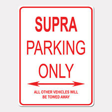 """SUPRA Parking Only Street Sign Heavy Duty Aluminum Sign 9"""" x 12"""""""