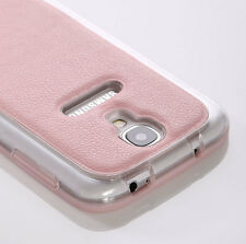 For Samsung Galaxy S4 PU Leather TPU Back Case Soft Protect Cover & Screen Film