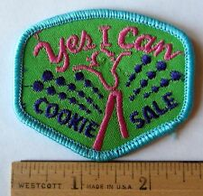 """Vintage Girl Scout 1993 COOKIE SALE PATCH """"Yes I Can!"""" Selling Award UNDATED"""