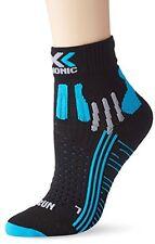 X-Bionic, Calzini tecnici da running Donna, Nero (Black/Turquoise), 41-42 (w8B)