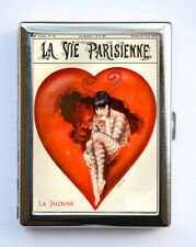 Cigarette Case id case Wallet La Vie Parisienne La Jalousie Heart Art Deco