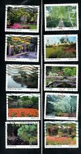 2020 Sc #5461-70 Forever American Garden 10 stamps Canceled