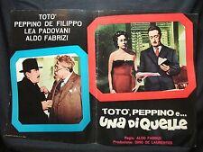 FOTOBUSTA CINEMA - TOTÒ, PEPPINO E UNA DI QUELLE - TOTÒ - 1953 - DRAMMATICO -09
