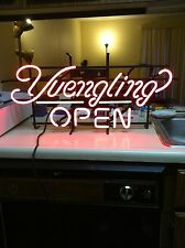 YUENGLING BEER NEON OPEN SIGN BAR MANCAVE