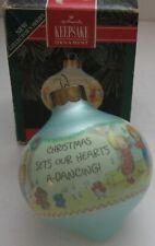 Vintage Hallmark Betsey's Country Christmas Ornament Keepsake 1992 Glass In Box
