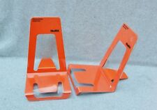 MOMA Museum Modern Art Book Stand Book Ends Set 2 Orange Mid Century New Eames