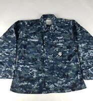 US Navy Mens Camo Working Uniform Shirt - Size 39 Short