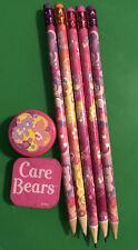 Care Bears Stationary Set Pink Eraser Pencils Sharpener
