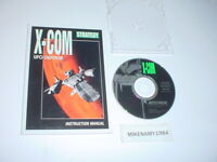 rare X-COM: UFO DEFENSE game disc in case w/ manual for MS-DOS / PC