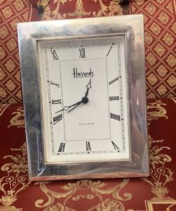 Hallmarked Sterling Silver Vintage Harrods Knightsbridge Clock