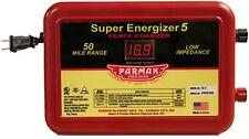 Parmak Super Energizer 5 Low Impedance 110/120 Volt 50 Mile Range Electric Fence