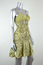 SUE WONG New Green Pistachio Embellished Cocktail Party Dress MSRP $438 Size 0